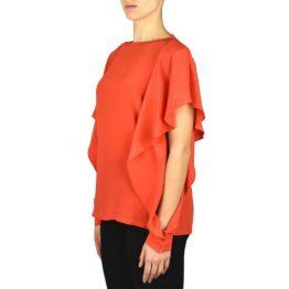 Pinko • rode blouse met open mouwen
