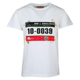 Pinko • wit shirt met marathon nummer