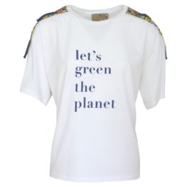 Pinko • wit shirt met let's green the planet