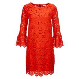 Frogbox • rode opengewerkte jurk