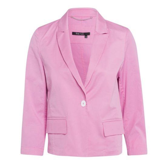 Marc Aurel • roze blazer met een knoop