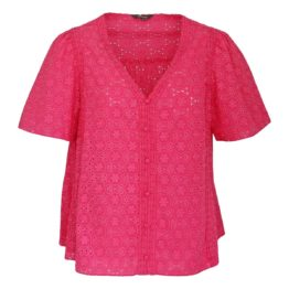 Princess goes Hollywood • kanten shirt in fuchsia