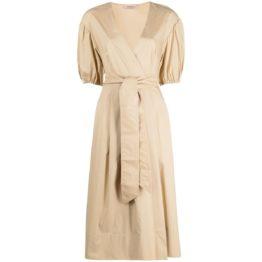 Twinset • overslag jurk in zand