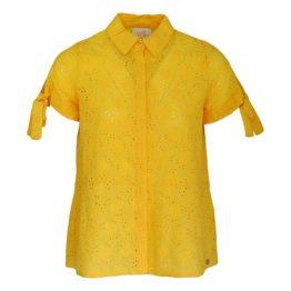 Verysimple • gele opengewerkte blouse