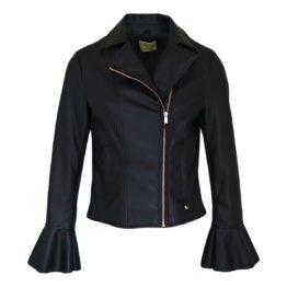 Verysimple • zwart faux leather jasje