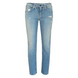 Cambio Jeans • blauwe jeans met beschadigingen