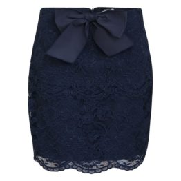 Elisabetta Franchi • donkerblauwe kanten rok
