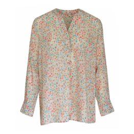 Milano Italy • ecru blouse met bloemen