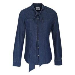 Twinset My Twin • blauwe denim blouse met linten