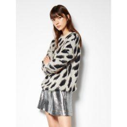 8PM • wollen trui met luipaard motief