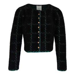 Friendly Sweater • zwart groen geruit vest