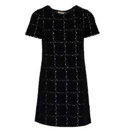 Friendly Sweater • zwart wit geruite jurk