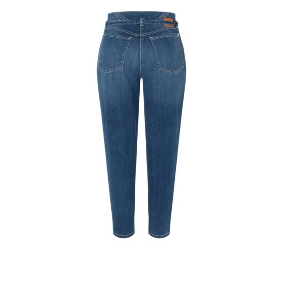 MAC • blauwe Mina jeans met contrasterende naden