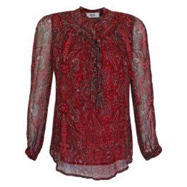 Moliin • rode blouse met paisley motief