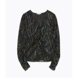 Patrizia Pepe • zwarte blouse met strepen