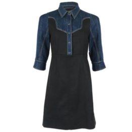 Annarita N • blauwe wollen denim jurk