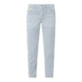 MAC • gestreepte SLIM urban summer jeans