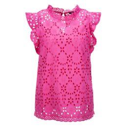 Princess goes Hollywood • roze opengewerkte top