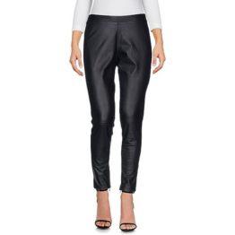 Twinset • zwarte pantalon in leer en stof