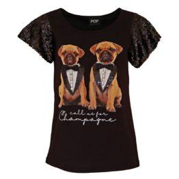 Verysimple • zwart t-shirt met honden